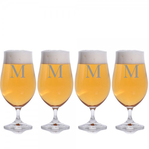 Personalized Simmons Beer Glass by Crystalize