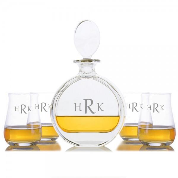 Cooper Liquor Decanter 5pc. Scotch Set By Crystalize