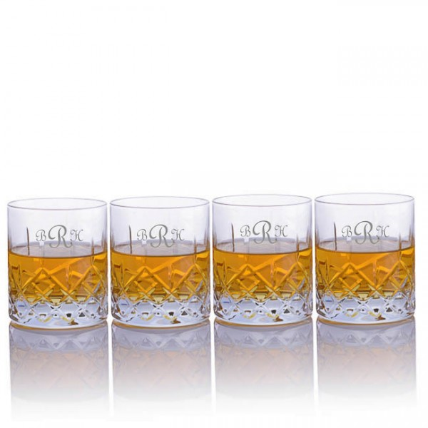 Crystalize Cut Crystal Double Old Fashion (DOF) Whiskey Tumbler