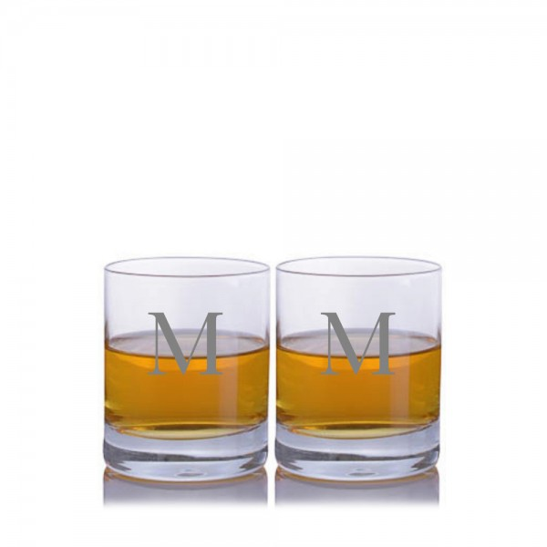Crystalize Engraved Double Old Fashioned Tumbler