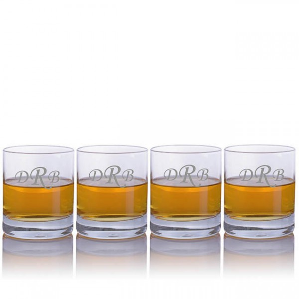 Engraved Ravenscroft Classic Double Old Fashioned Glasses