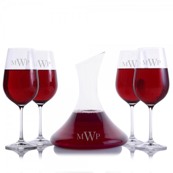 Gillespie Wine Decanter 5pc. Set by Crystalize