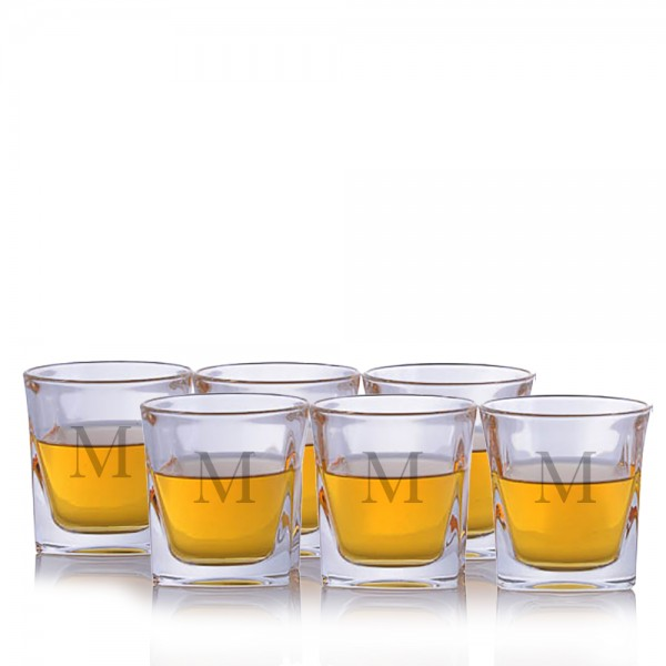 Crystal Lincoln Old Fashioned Tumbler Glass 6 pc set
