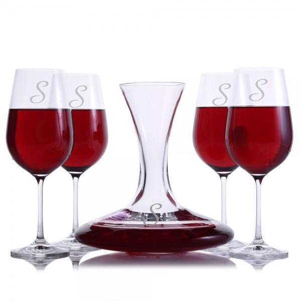 Crystalize Sloane Wine Decanter Set