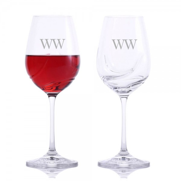 Crystalize Turbulence Wine Glass 12oz 2pc. Set