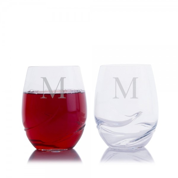 Turbulence Stemless Red Wine Glass 2pc. Set