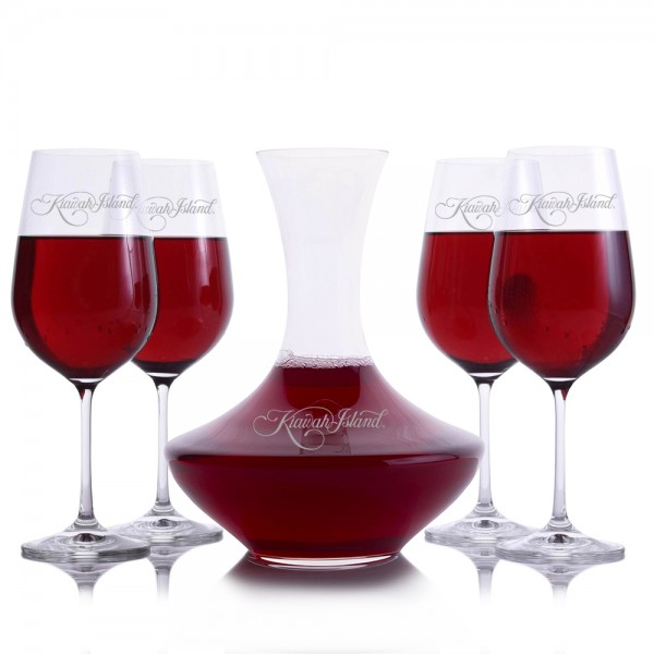 Wonder Wine Decanter 5 pc. Set by Crystalize