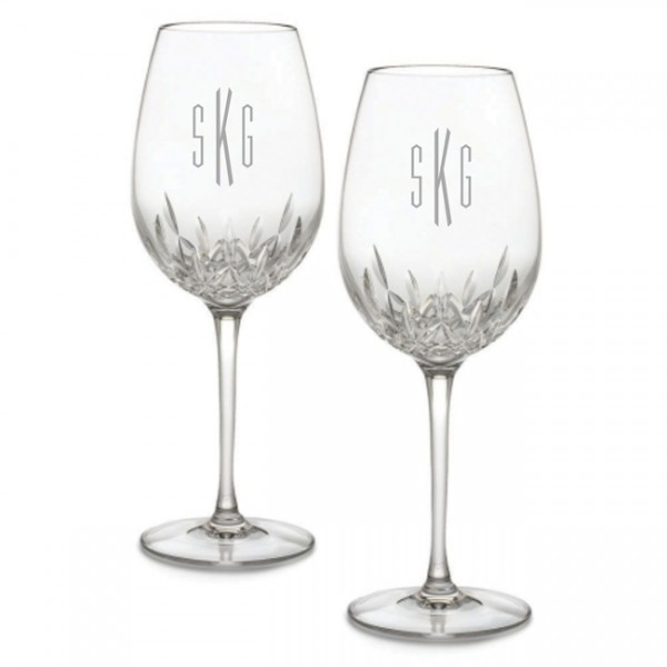 Engraved Waterford Lismore Essence Goblet / Red Wine Glass