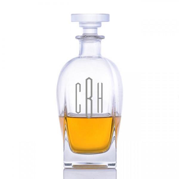 Luigi Bormioli Rossini Engraved Whiskey Decanter