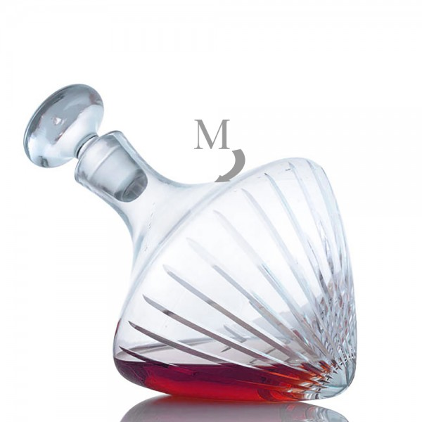 Personalized Ravenscroft Beveled Orbital Wine Decanter