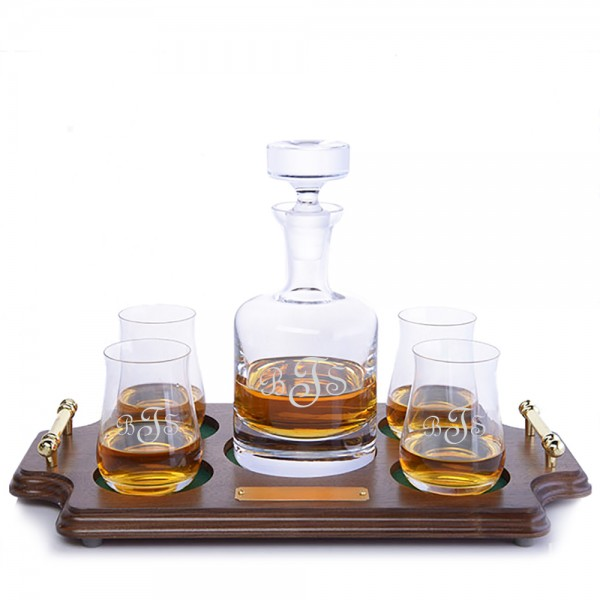 Ravenscroft Decanter Wood Tray Set