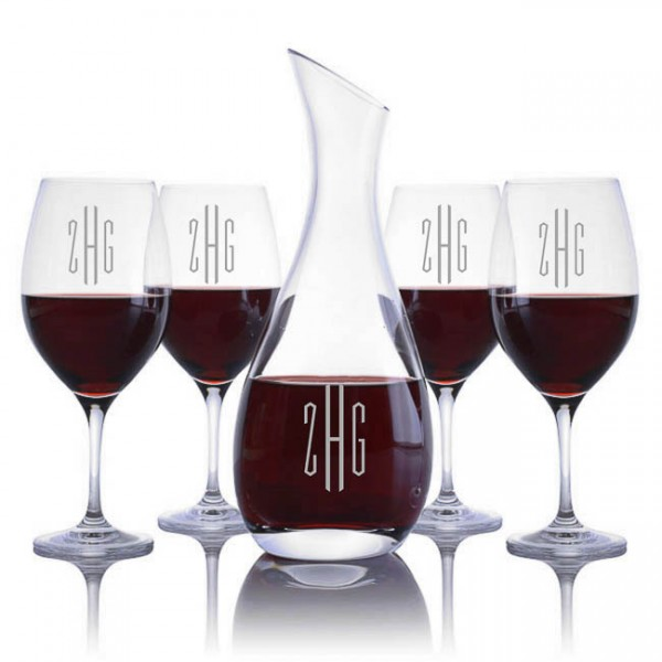 Ravenscroft Cristoff Decanter & 4 Red Wine Glasses Set