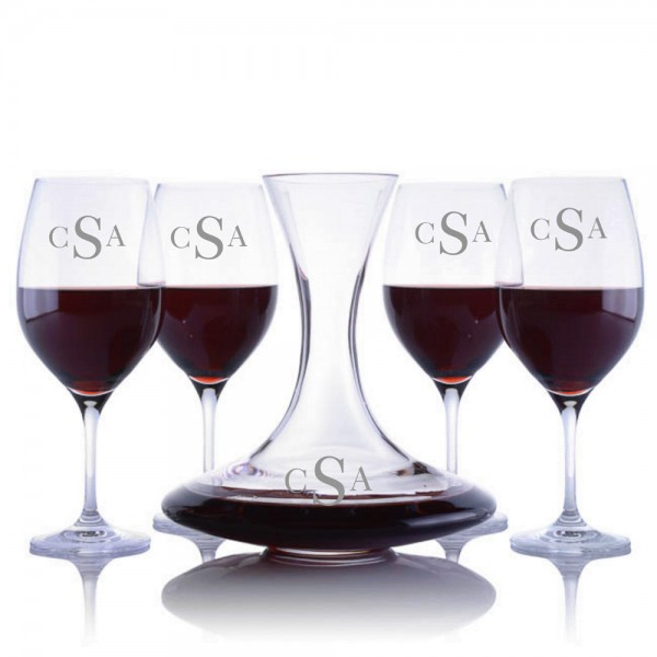 Ravenscroft Infinity Decanter & 4 Red Wine Glasses Set