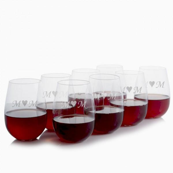 Ravenscroft Stemless Red Wine Glasses -Set of 8 - Mother's Day