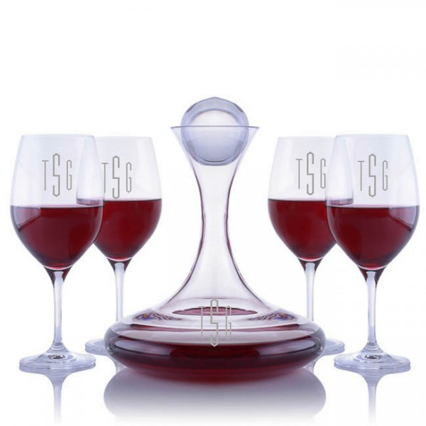 Ravenscroft Crystal Vintner's Choice Decanter Set Engraved