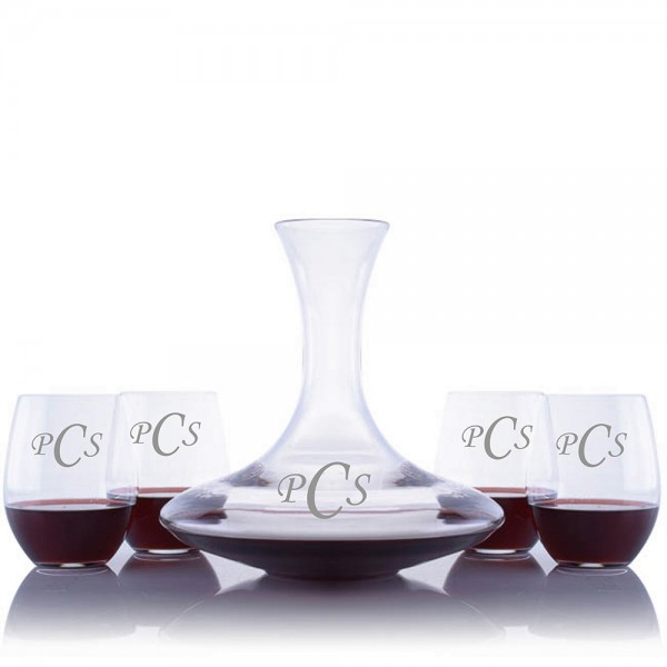 Ultra Magnum Wine Decanter 5pc Stemless Set by Riedel