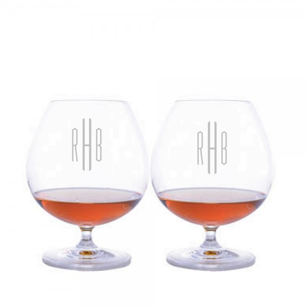 Personalized Riedel Bar Brandy Glass-2pc Set