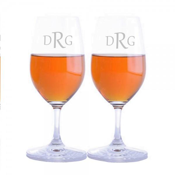 Engraved Riedel Bar Port Glass