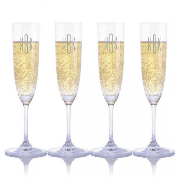 Engraved Riedel Vinum Champagne Flute