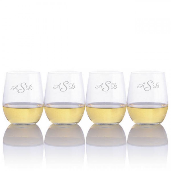 "Riedel ""O"" Series Engraved Chardonnay Wine Tumbler"