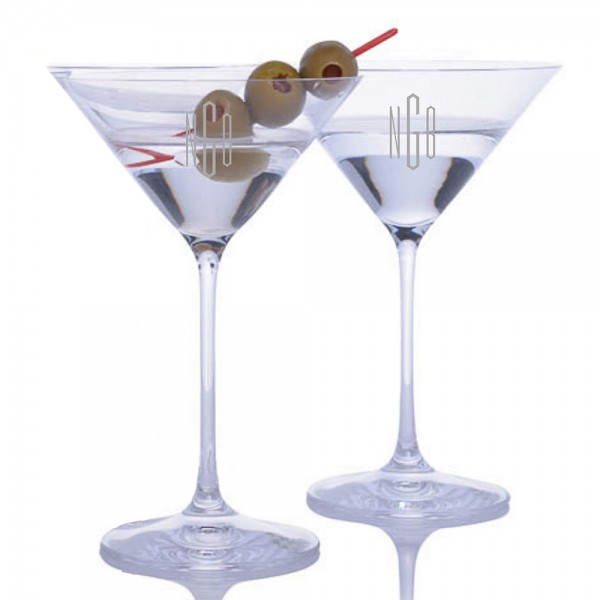 Personalized Riedel Bar Vinum Martini XL