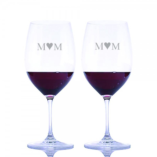 Riedel Engraved Vinum Red Wine Bordeaux Glass- Mother's Day