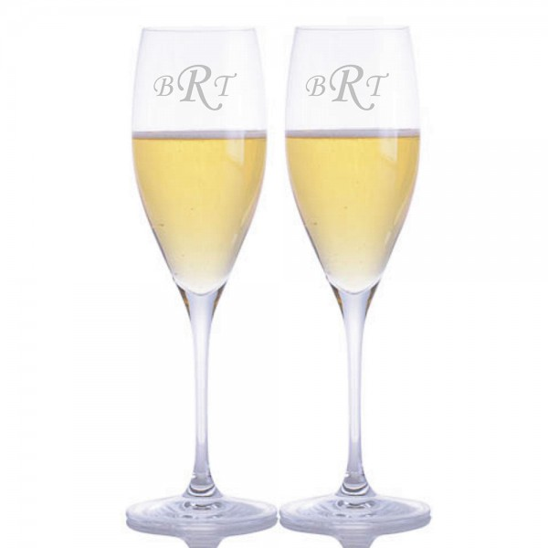Engraved Riedel Vinum Cuvee Prestige Glass