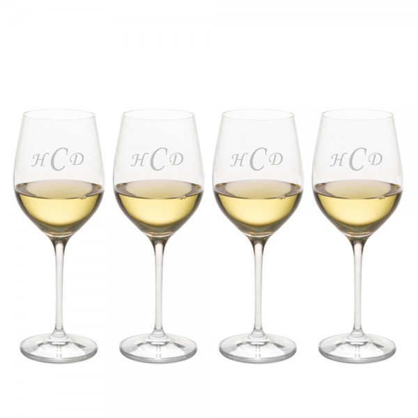 Engraved Ravenscroft Crystal Chardonnay Grand Cru Wine Glass