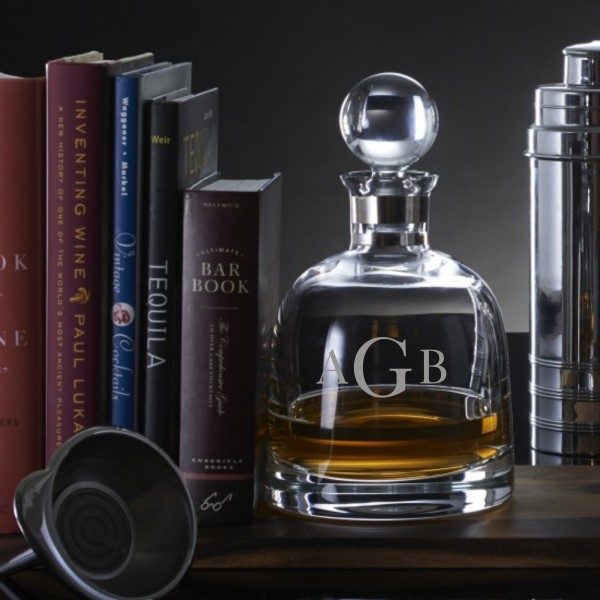 Personalized Engraved Waterford Elegance Short Decanter With Stopper