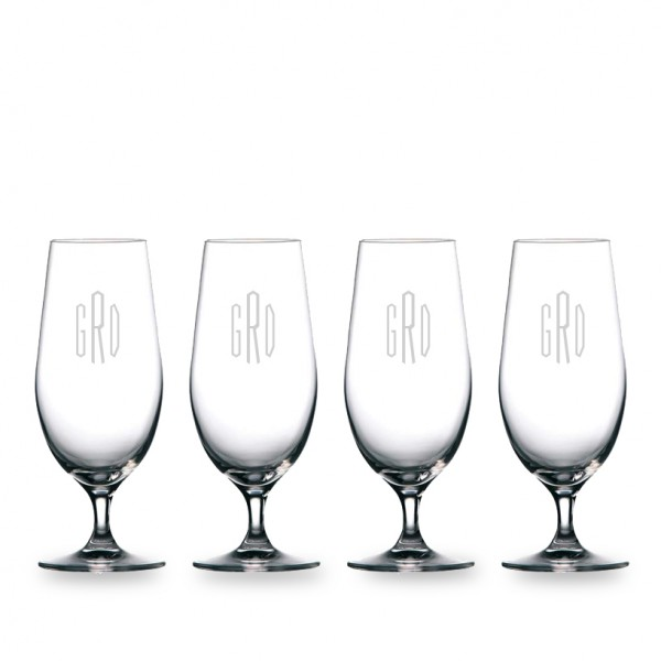 Personalized Waterford Moments Beer Glass 4pc. Gift Set