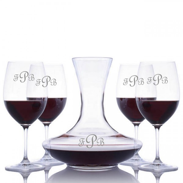 Engraved Waterford Vintage Red Wine Decanter Set