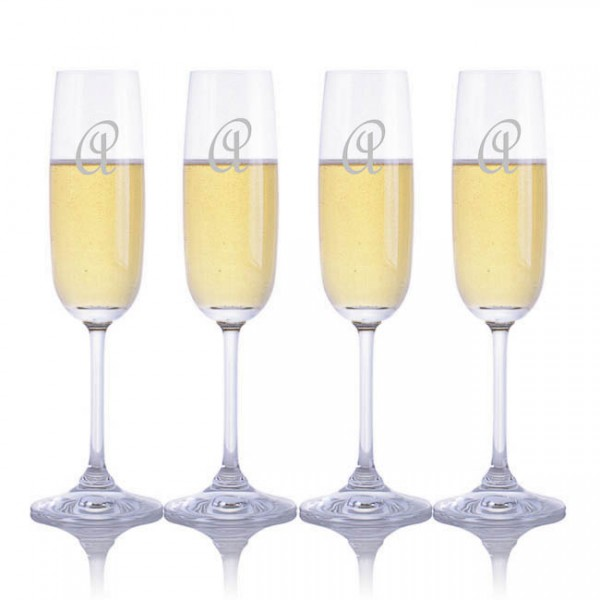 Waterford Engraved Vintage Champagne Flutes