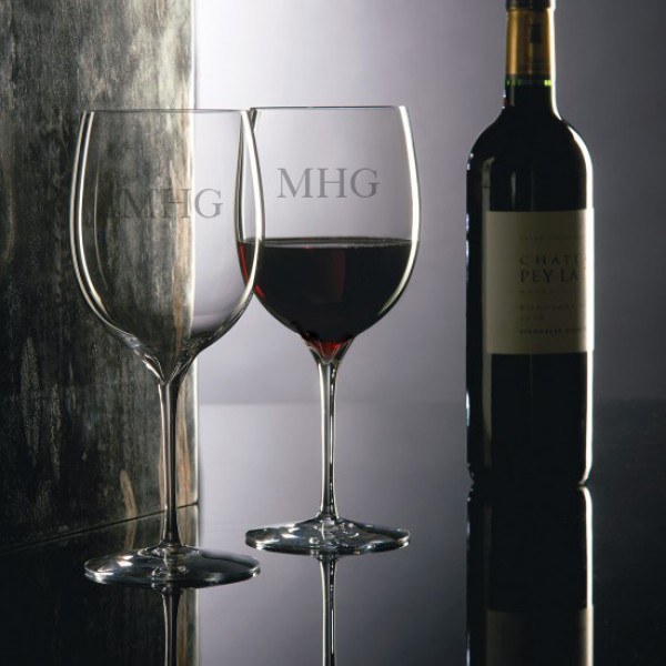 Personalized Engraved Waterford Elegance Bordeaux Glass