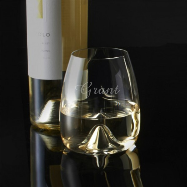 Custom Waterford Elegance Stemless Wine Glass 2pc. Set