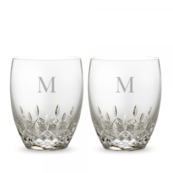 Personalized Waterford Lismore Essence Double Old Fashioned Set of 2
