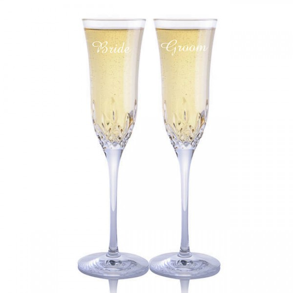 Engraved Waterford Lismore Essence Flutes