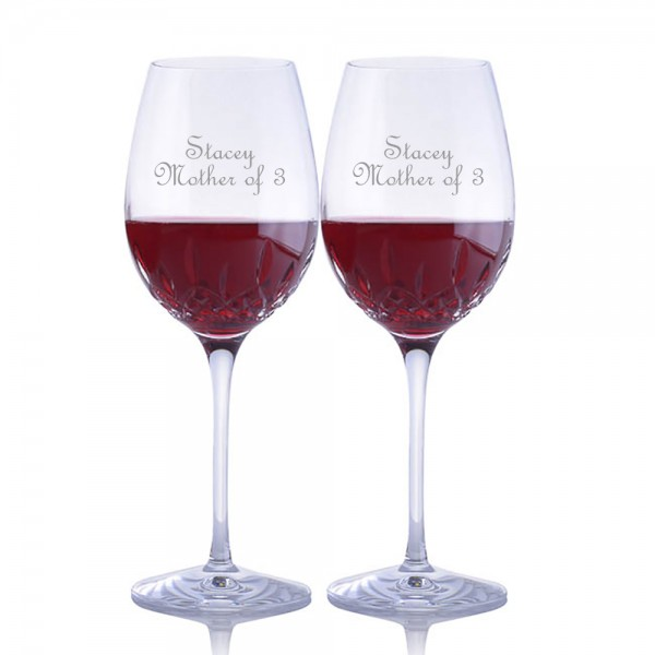 Engraved Waterford Lismore Essence Goblet / Red Wine Glass- Mother's Day Gift