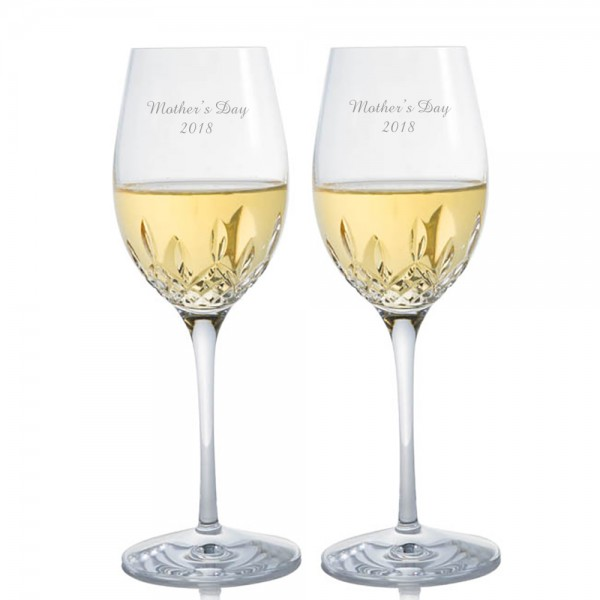 Engraved Waterford Lismore Essence White Wine Glass - Mother's Day
