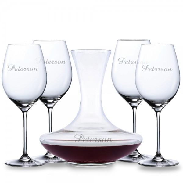 Personalized Waterford Moments Sommeliers Wine Carafe Decanter 5pc Gift Set