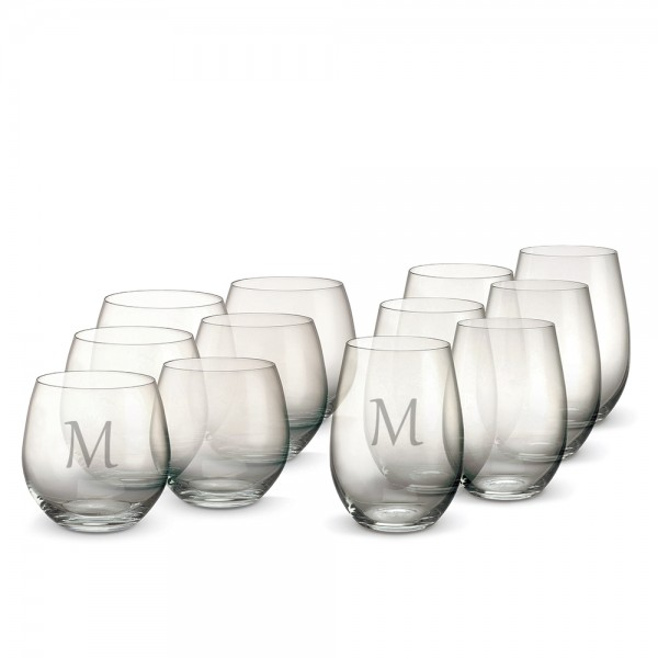 Personalized Marquis by Waterford Vintage Stemless Red & White Wine-Set of 12