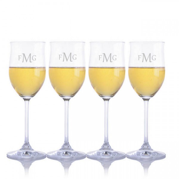 Engraved Waterford Vintage Young White Wine Glasses