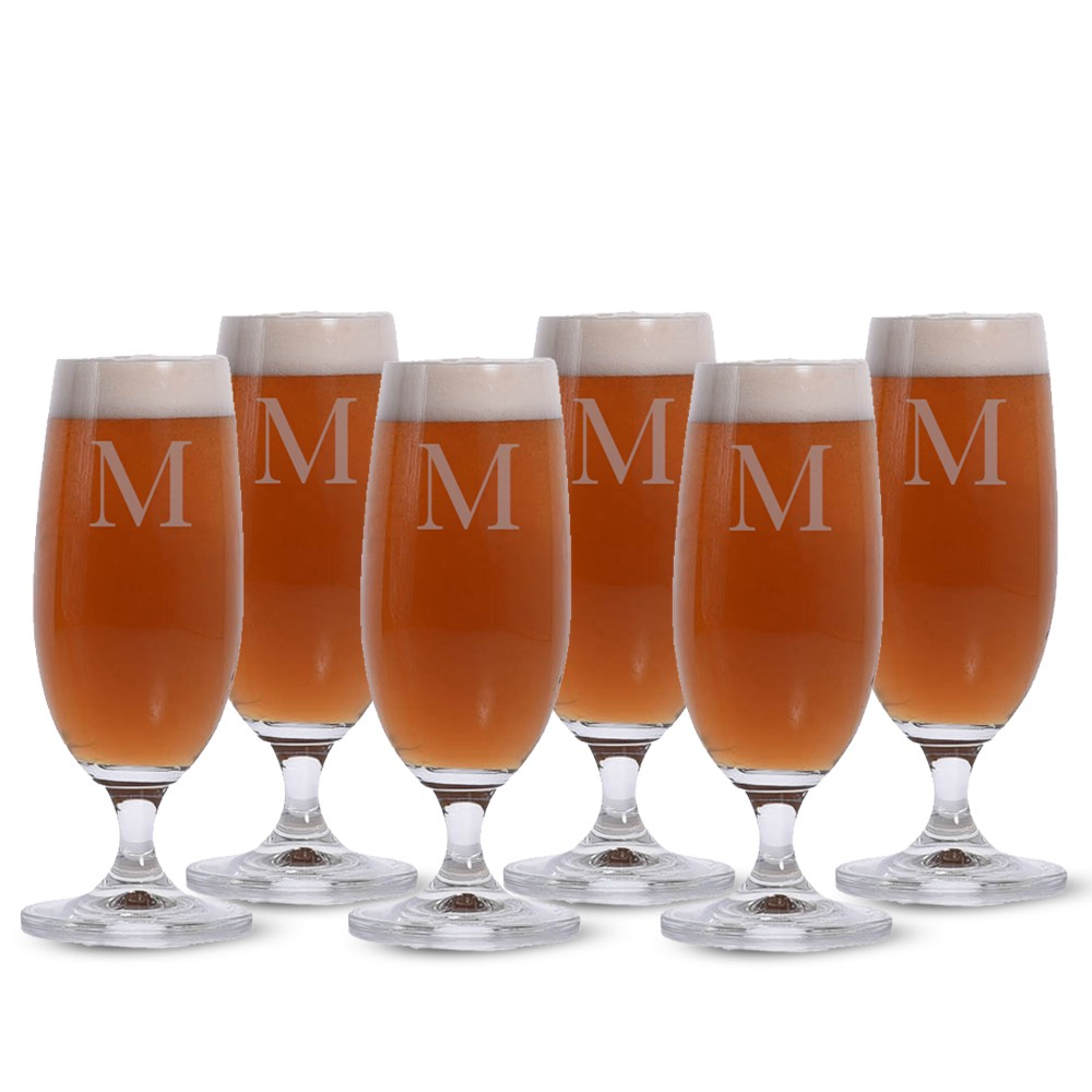 engraved lennon beer glass set of 4 by crystalize
