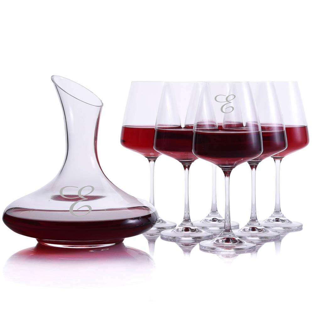 crystalize mozart wine decanter 7pc set. Black Bedroom Furniture Sets. Home Design Ideas