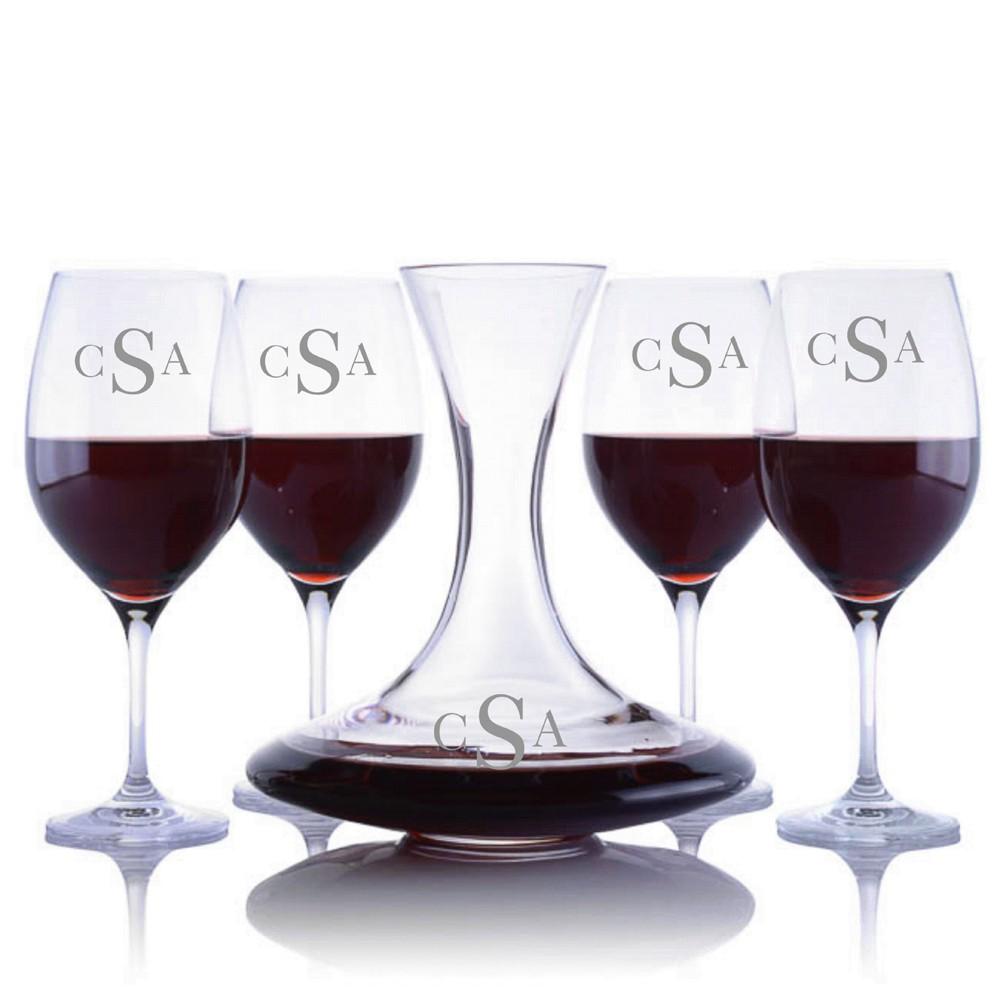 ravenscroft personalized infinity decanter wine set. Black Bedroom Furniture Sets. Home Design Ideas