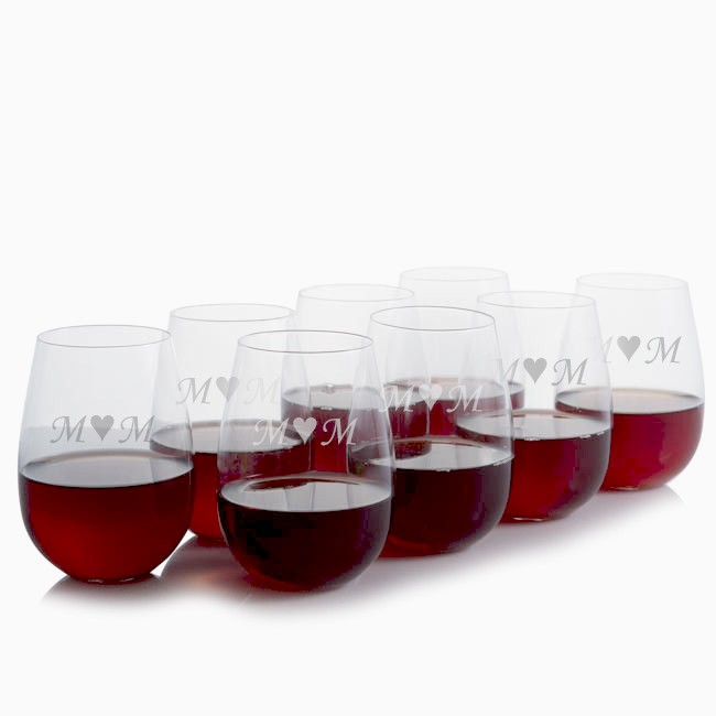 ravenscroft personalized stemless red wine glass