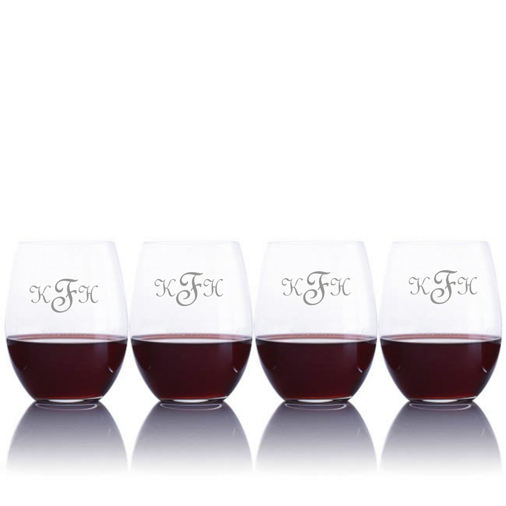 custom riedel cabernet wine decanter 5pc  stemless set