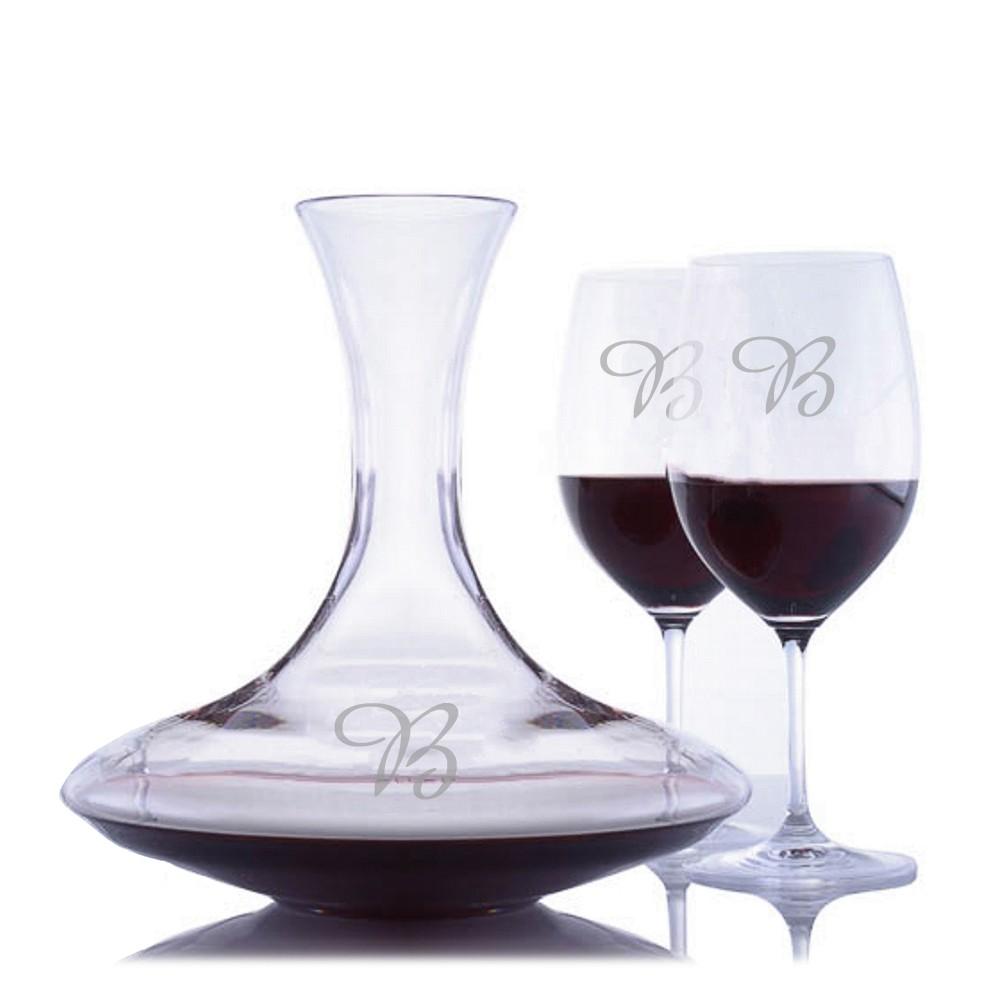 custom crystal ultra magnum wine decanter 3pc stemmed set by riedel