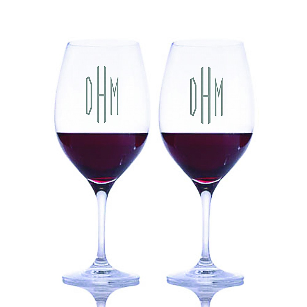 engraved riedel vinum bordeaux red wine glass