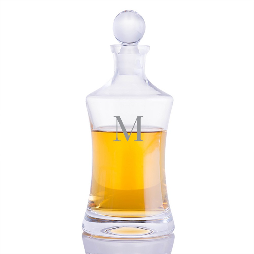 personalized waterford vintage hourglass decanter set