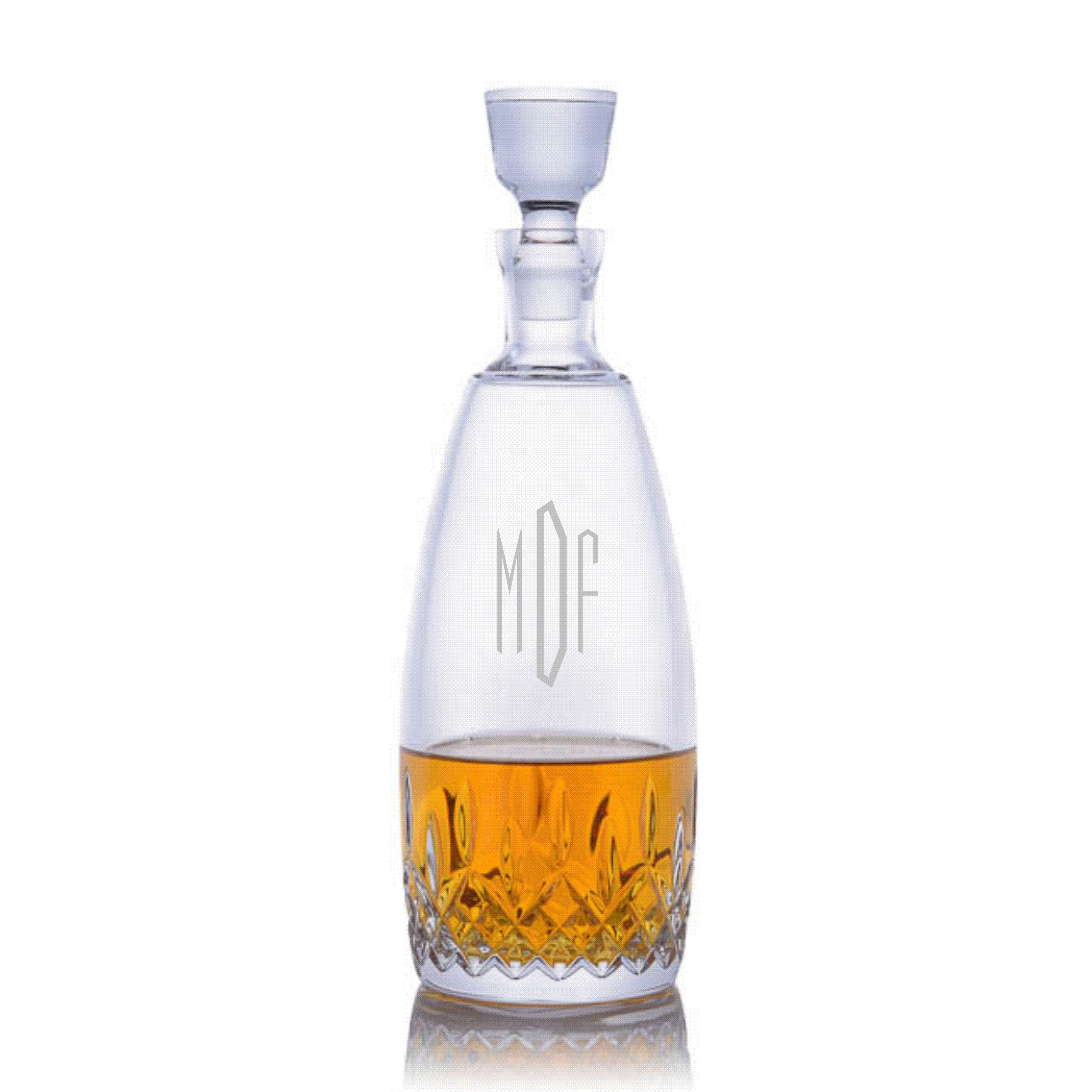 personalized engraved waterford lismore decanter with stopper